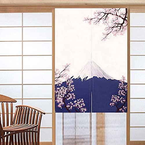 CoolChange Cortina japonesa para puerta, 80 x 130 cm, incluye barra de sujeción, puerta Noren de tela, diseño: Berg Fuji