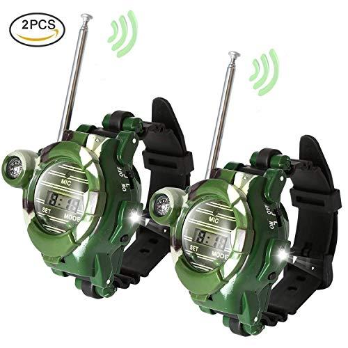 YEKOO ウォッチ型 トランシーバー 子供用 多機能時計 子供のおもちゃ 通信範囲150M スパイゲーム カモフラ...