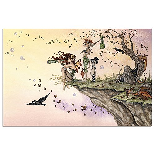 Tree-Free Greetings EcoNotes 12-Count Blank Notecard Set with Envelopes, Where the Wind Take You Fairy