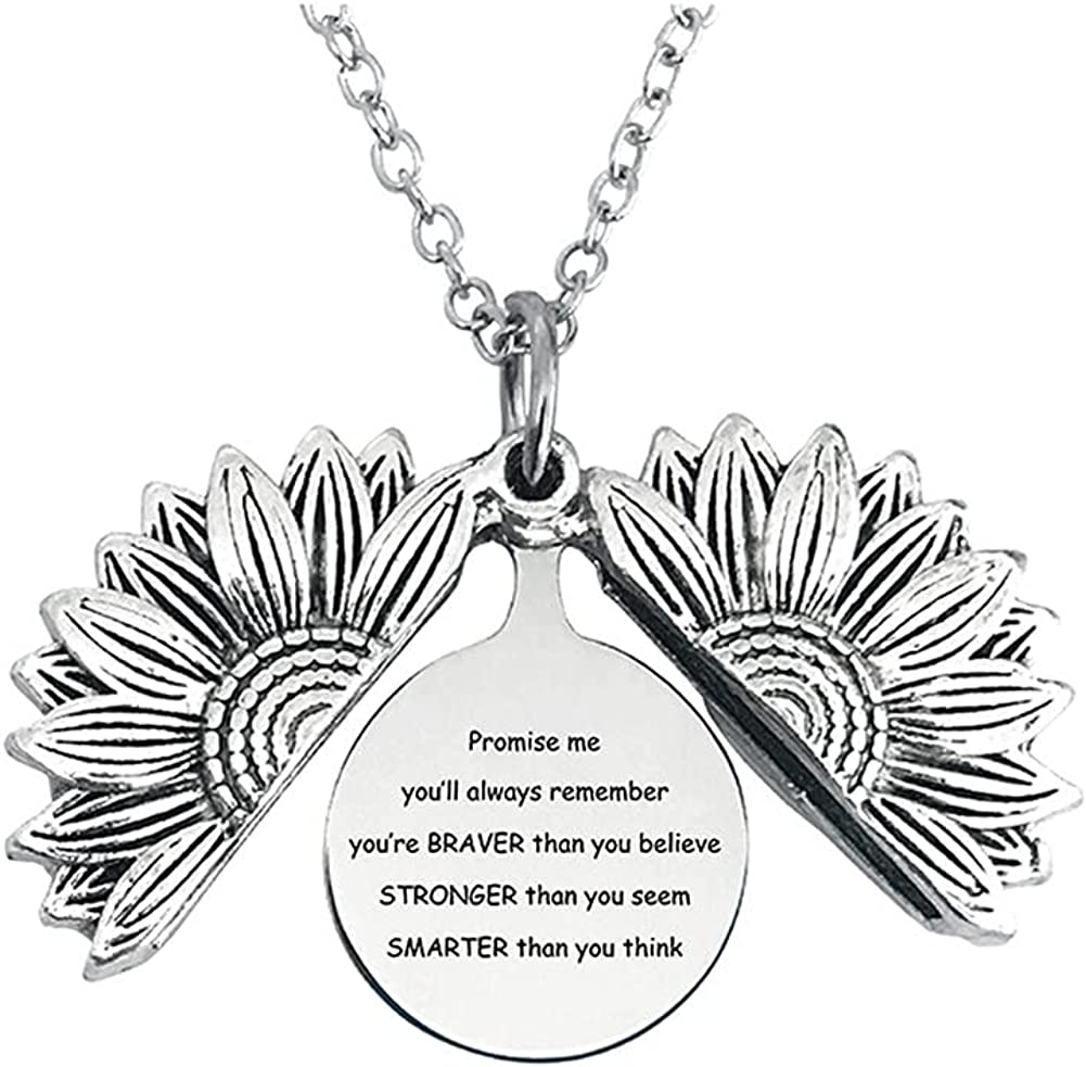 N+A Sunflower Necklace Graduation Womens Gift quality assurance Weekly update for her