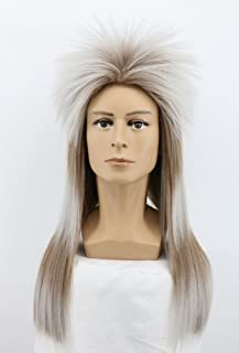 Yuehong Long Straight Rock Star Style Wigs Halloween Cosplay Wig Anime Wigs