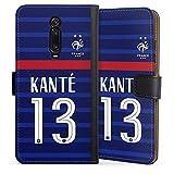 DeinDesign Étui Compatible avec Xiaomi Mi 9T Pro Étui Folio Étui magnétique Football Équipe de...