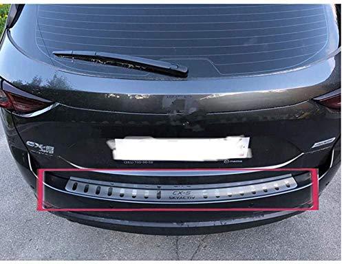 Placa Protectora Parachoques Trasero Acero Para AutomóVil, Moldura Placa Banda Rodadura BaúL Acero Inoxidable Para Mazda Cx-5 2017-2019,Parachoques Exterior Cubierta ProteccióN Parachoques