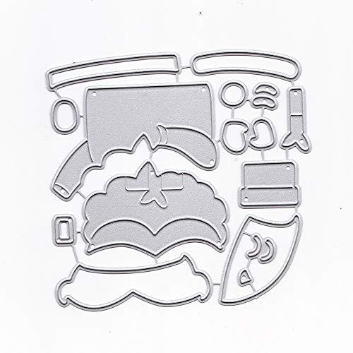ZbFwmx Metal Cutting Dies Stencil DIY Scrapbooking Embossing Tool DIY Paper Cards Album Decoration (Santa Claus-2)