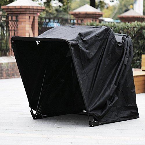 Hopopular Motorcycle Shelter Storage Waterproof Motorbike Storage Tent Oxford 600D Motorcycle Shelter Shed Fit Most Motorcycles (600D Motorcycle Shelter)