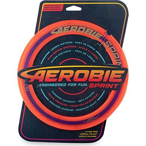Aerobie Sprint Flying Ring Wurfring mit Durchmesser 25,4 cm, orange