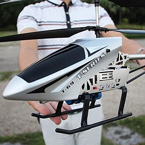 Moerc 3.5Ch Channel Resistencia a la caída enorme Control remoto Avión Aviones Toy LED RC Helicóptero Estable Easy Aprender Buena Operación Helicóptero Regalos Adolescentes Niños Niñas Adultos Volar J