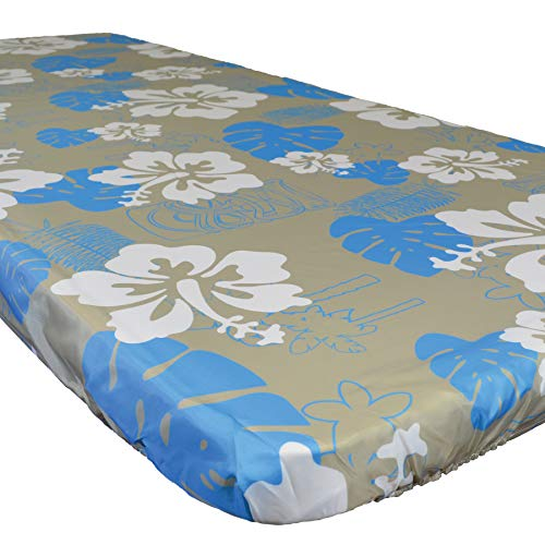 In the Breeze 8005 Tropical 30 Inch x 72 Inch Fitted Tablecloth, 30in x 72in (6ft)