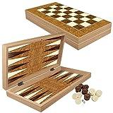 PrimoLiving Deluxe Holz Backgammon Set Granada im XXL Format 50x50 cm -