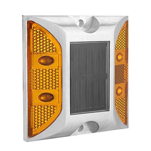 Lámpara Solar Exterior, Luz de advertencia LED, Luz Alerta Impermeable naranja de fundido, para Highways, Garaje, Terraza, Caminos, Acera