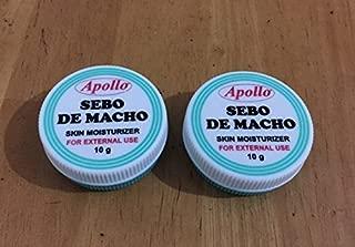 Apollo Sebo De Macho Skin Moisturizer (10g x 2cans) NEW PACKAGING by Apollo