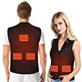 Lightweight Electric Heated Vest, 5 Heating Zones Jacket Cold-Proof Heating Clothes Washable Four...