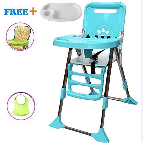 Review MASODHDFX Protable Baby Kids Feeding Chair Multi-Function Foldable Adjustable Baby Eating Din...