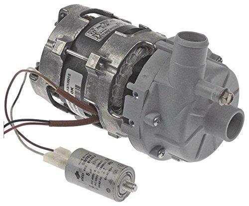 LGB Bomba para lavavajillas Elframo C66, C44, D80, D120, C77, C66dgt, C44dgt 0,15 kW/0,2 CV, entrada de 28 mm, longitud de 195 mm