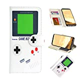 UrSpeedtekLive Galaxy S8 Wallet Case Folio Flip Premium PU Leather Case Cover w/Card Holder Slot Pockets, Wrist Strap, Magnetic Closure Compatible with Samsung Galaxy S8 (2017),Gameboy