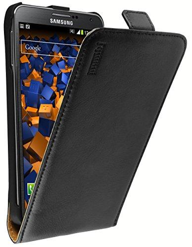 mumbi Echt Leder Flip Hülle kompatibel mit Samsung Galaxy Note 3 Hülle Leder Tasche Hülle Wallet, schwarz