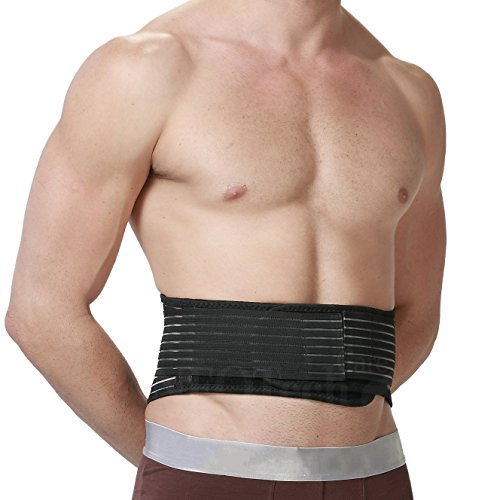 Cinturón de calor magnética - Faja de apoyo lumbar para la espalda con autocalentamiento - Tirantes dobles para proporcionar compresión - Tejido con imanes y turmalina - Para la postura + alivio para el dolor lumbar o de la cintura - Marca Neotech Care (Beige, XXL)