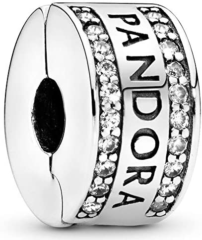 Pandora Jewelry Pandora Logo Cubic Zirconia Charm in Sterling Silver product image