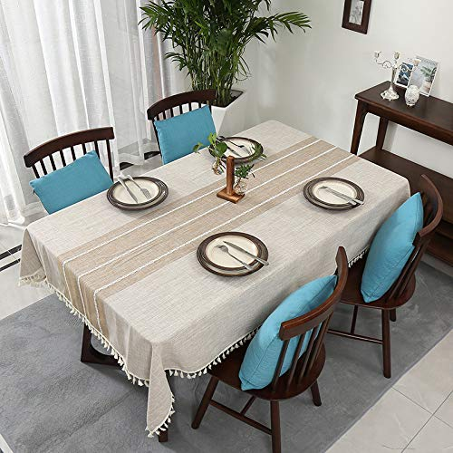 YATING Mantel Rectangular Lavable Mesa de Comedor de diseño para Mesa de Cocina...