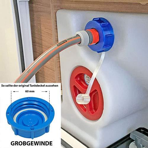 WAFA+ G7 Fülladpater & Wassertankdeckel in einem für Wohnmobile Knaus, Weinsberg, Bürstner, Challenger, Chausson, GROBGEWINDE