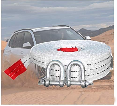 Xiaoyue Abschleppseil Abschleppseil, 6 Meter Heavy Duty Seilwinde Anhängerabschleppseil Abschleppseil Schleppen Mit Sicherheitskupplung, bis Ziehen bis 10 Tonnen haltbare Abnutzung lalay