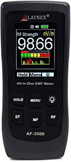 LATNEX AF-3500 EMF Meter RF Detector and Reader with Calibration Certificate - Measures RF and Microwaves, 3-Axis Gauss or Tesla Magnetic Fields and V/M Electrical Fields ELF