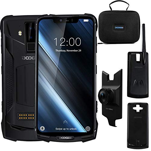 "DOOGEE S90 SUPER, Rugged Smartphone in Offer 4G Android 8.1, 6,18 ""FHD + Battery 10050 mAh (3 Mod Included), Helio P60 Octa-core 6 GB RAM 128 GB ROM, IP68 Waterproof, Camera AI 16 MP + 8 MP Black"