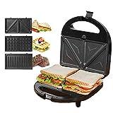 KotiCidsin Sandwich Maker, Waffle Maker, Sandwich Grill, 750-Watts, 3-in-1 Detachable Non-stick...