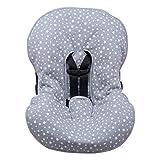 JANABEBE Funda Universal acolchada para Portabebe y silla de coche grupo 0 (WHITE STAR)