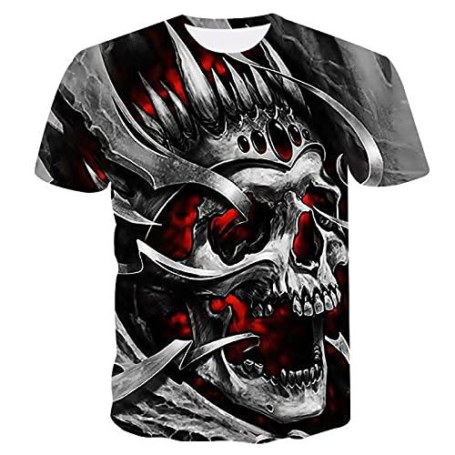 EMPERSTAR Disfraz de Esqueleto de Halloween Camiseta de Calavera Negra M