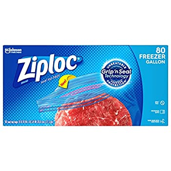 Ziploc Freezer Bags with New Grip  n Seal Technology Gallon 80 Count
