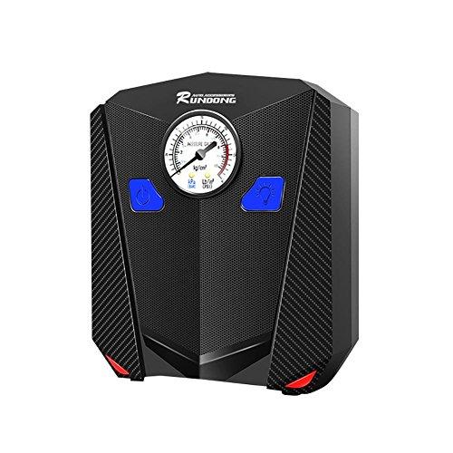 12V compressore d' aria portatifs digitale Pompa di gonfiaggio fusibile integrato con schermo HD lampada LED e pressione dei pneumatici e pallone