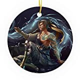 Bynight Tree Ornament Overwatch Game Fan Indoor Dragon Tatoo Hanzo Japan Holiday Christmas Christmas Ornaments for Home Decoration Kit Outdoor/Indoor Plastic Round 2pcs/Pack