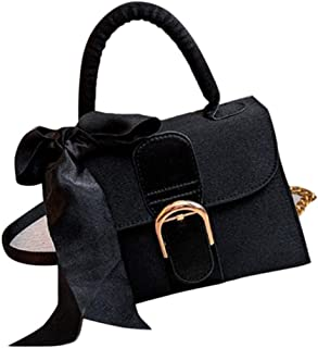 Timagebreze Schleife Bote Tasche Dame Umh?Ngetasche Dame Mode Einfarbige ein Farbe Schulter Tasche Weibliche Handtasche Sc...