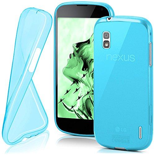 MoEx® AERO Case Transparente Handyhülle passend für LG Google Nexus 4 | Hülle Silikon Dünn - Handy Schutzhülle, Durchsichtig Türkis