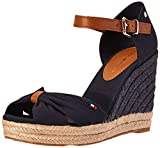 Tommy Hilfiger Basic Opened Toe High Wedge, Sandalias con Punta Abierta para Mujer, Azul (Desert Sky...