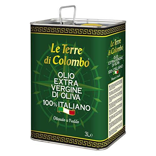 Le Terre di Colombo – Huile d'Olive Extra-Vierge 100% Italienne - Bidon Métallique - 3L