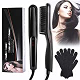 RIPPLE Hair Straightener Brush,Professional Hair Straightening Brush,Heated Hair Straightening Comb 30s Fast Heating