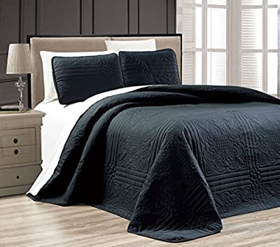 "Oversize ""Stella Grande"" Bedspread Embossed Coverlet set Twin, Twin XL, Full, Queen, King and Cal King Bed Cover"