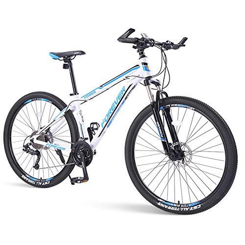 DJYD Mens Mountain Bikes, 33-Gang Hardtail Mountainbike, Doppelscheibenbremse Aluminiumrahmen, Berg Fahrrad mit Federung vorne, Grün, 29 Zoll FDWFN (Color : Blue, Size : 29 Inch)