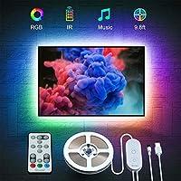 TV LED Backlights, Govee 3m LED Strip Lights with Remote for 1.15-1.5m TV, 32 Colors 7 Scene Modes Accent Strip Lighting...