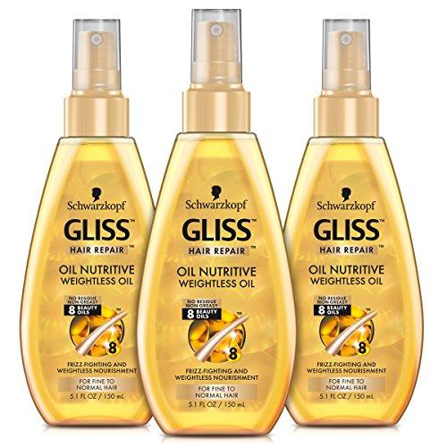 GLISS Hair Repair Leave-In Conditioner, Ultimate Repair Express Repair for Heavily Damaged Hair, 6.8 Ounces (Pack of 3)