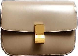 JeHouze Women's Genuine Leather Messenger Crossbody Handbag