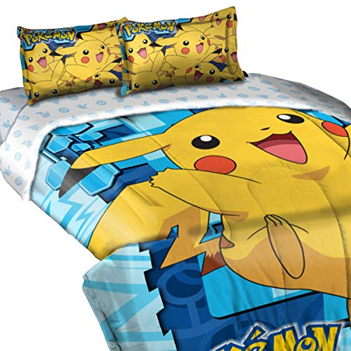 Pokémon Twin/Full Big Pika Comforter Set, 3 Piece