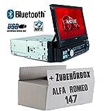Autoradio Radio Caliber RMD574BT - Bluetooth | MP3 | USB | SD | 7' TFT - Einbauzubehör - Einbauset für Alfa Romeo 147 Silber - JUST SOUND best choice for caraudio
