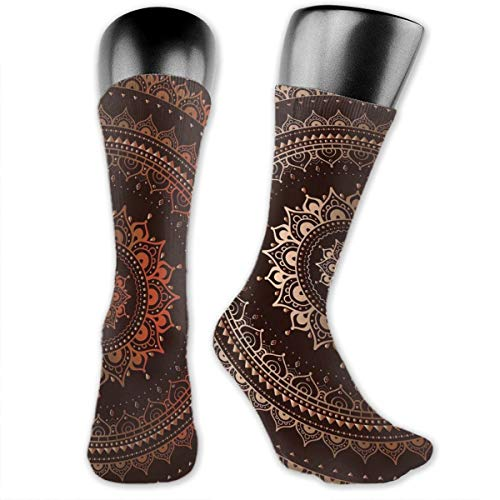 Compression Medium Calf Socks,Ethnic Tribal Circle Universe And Cosmos Symbolism Esoteric Icon Image Print