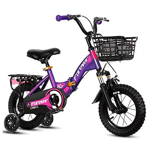 Axdwfd Kinderfiets Kinderfiets-12 Inches-jongens En Meisjes-met Trainingswielen En Roller Coaster Brake-3 Kleuren Fiets