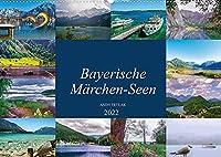 Bayerische Maerchen-Seen (Wandkalender 2022 DIN A2 quer): Diesmal lade ich Sie auf eine schoene Reise ueber bayerische Maerchenseen ein. (Monatskalender, 14 Seiten )