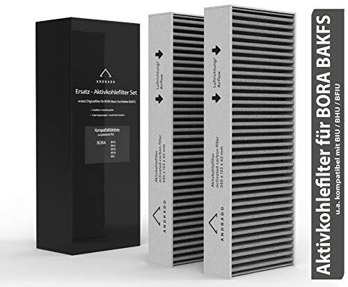 2er-Set Aktivkohlefilter für BORA Basic Kochfelder - BAKFS - u.a. BORA Filter BHA, BHU, BFUI, BFIA, BUI von ANDRADO