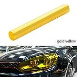 Scheinwerfer Folie Auto Tönungsfolie Aufkleber 30 * 120cm wasserdicht Nebelscheinwerfer Rückleuchten Blinker (Gold)